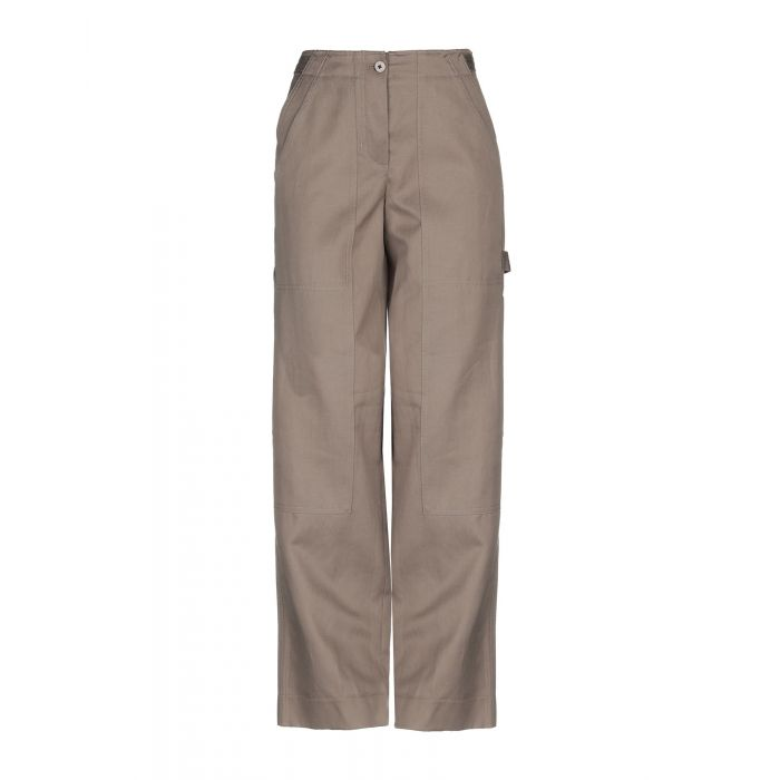 Image for Khaki cotton casual trousers