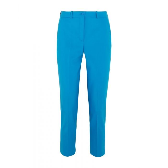 Image for Azure dark blue wool casual trousers