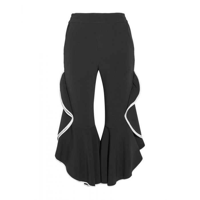 Image for Black acetate cropped trousers