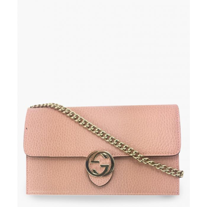 Image for Dusty pink leather interlocking GG crossbody
