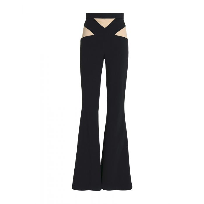 Image for Black acetate casual trousers