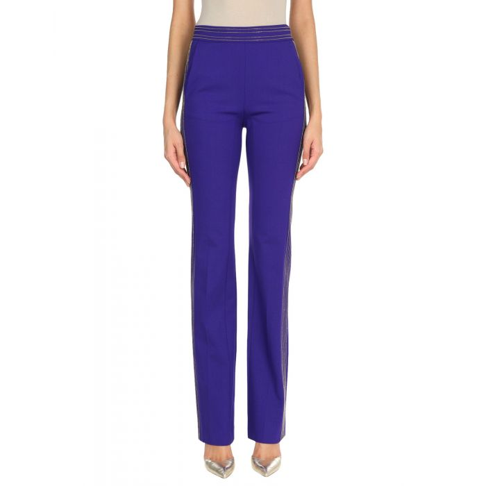 Image for Purple wool casual trousers