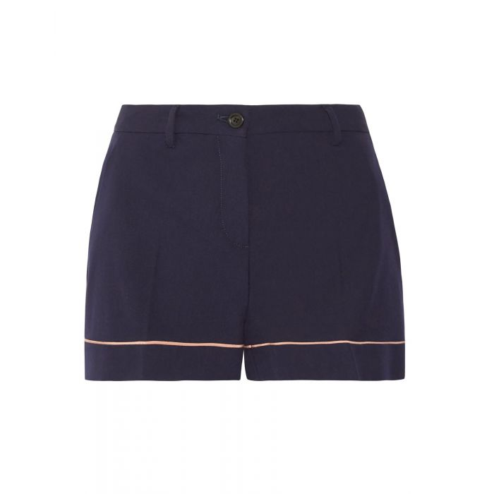 Image for Dark blue wool shorts