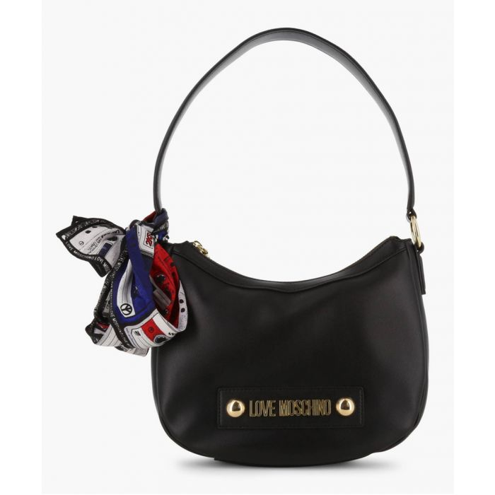 Image for Black faux-leather shoulder bag