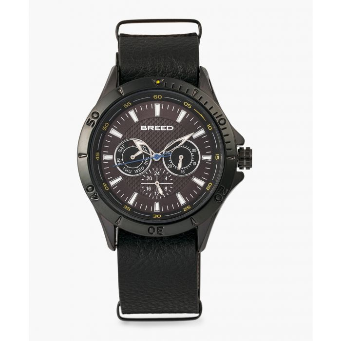 Image for Dixon leather chronograph watch