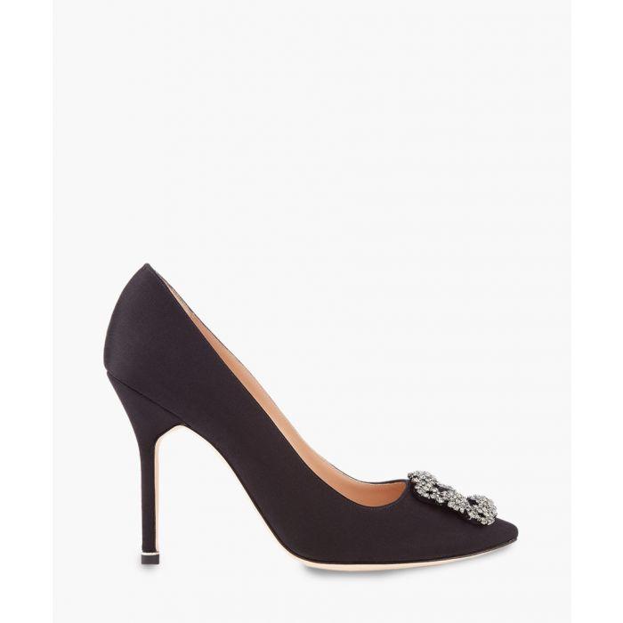 Image for Hangisi black satin stilettos