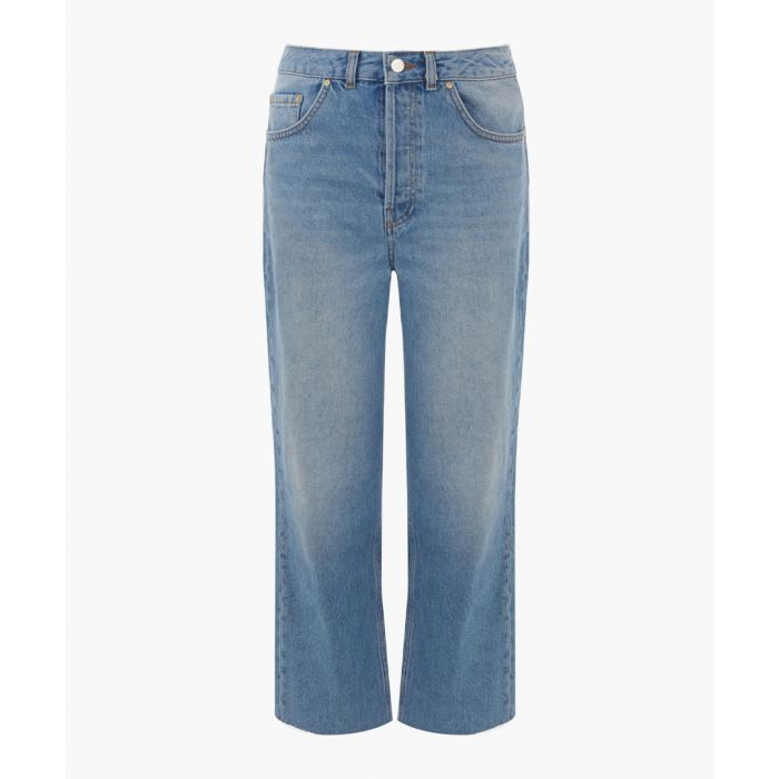 Image for Light wash straight-cut jeans