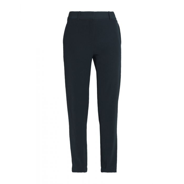 Image for Dark blue triacetate casual trousers