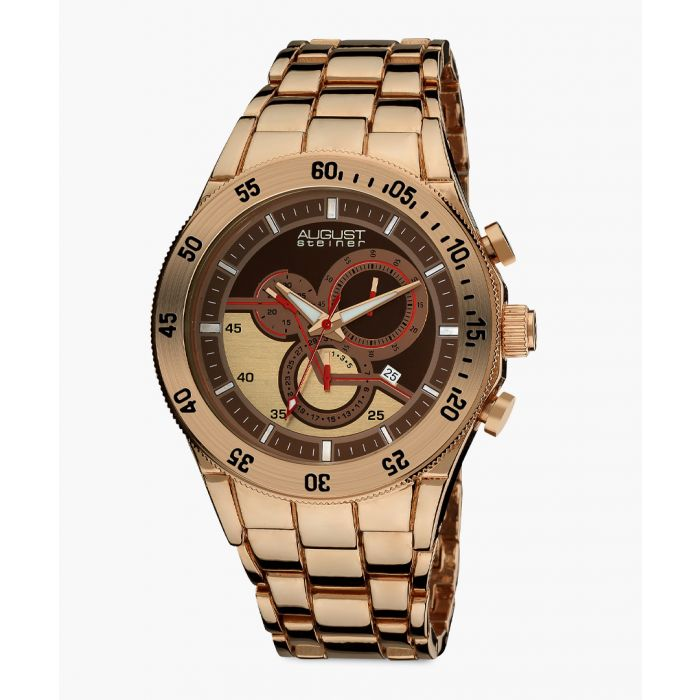 Image for Gold-tone chronograph watch