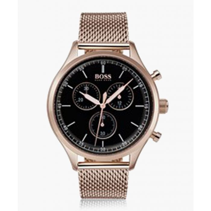 Image for Gold-tone and black mesh watch