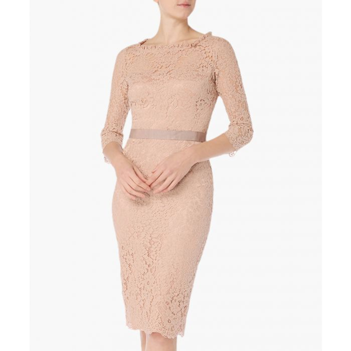 Image for Venus pink lace pencil dress