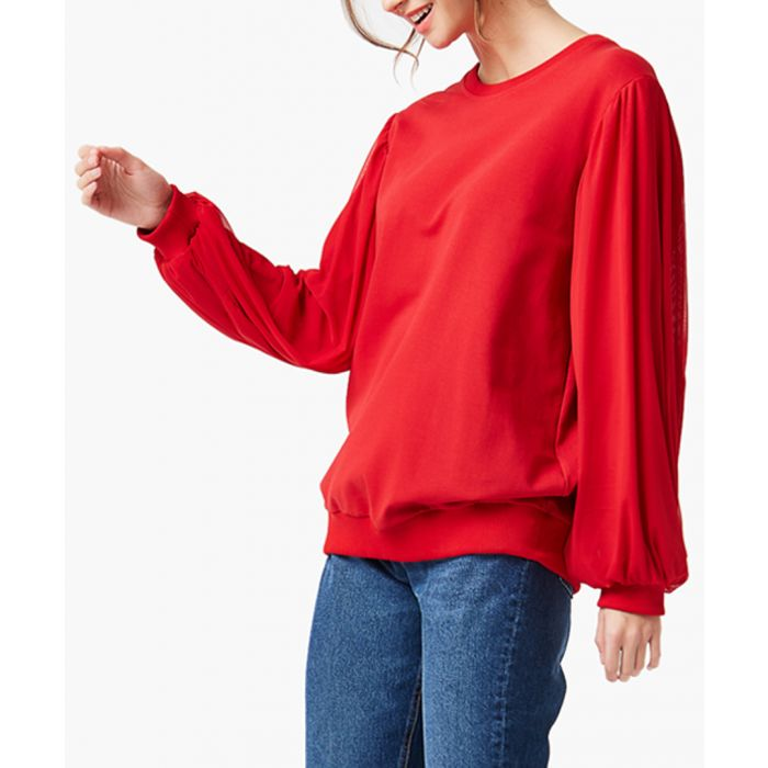Image for Red loose cut sweatshirts