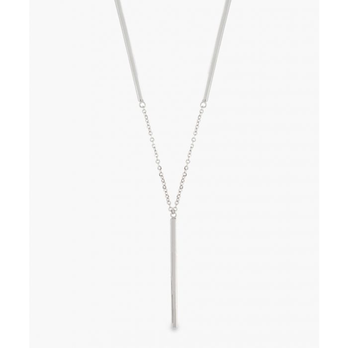 Image for Sole Du Soleil Lily white gold-plated bar necklace Necklaces white, gold-tone
