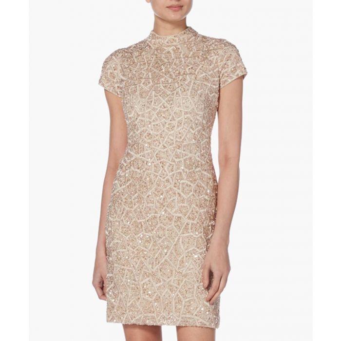 Image for Blush High-Neck Short Sleeve Dress