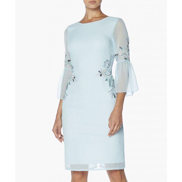 Image for Pale Blue Sheer Sleeve Dress