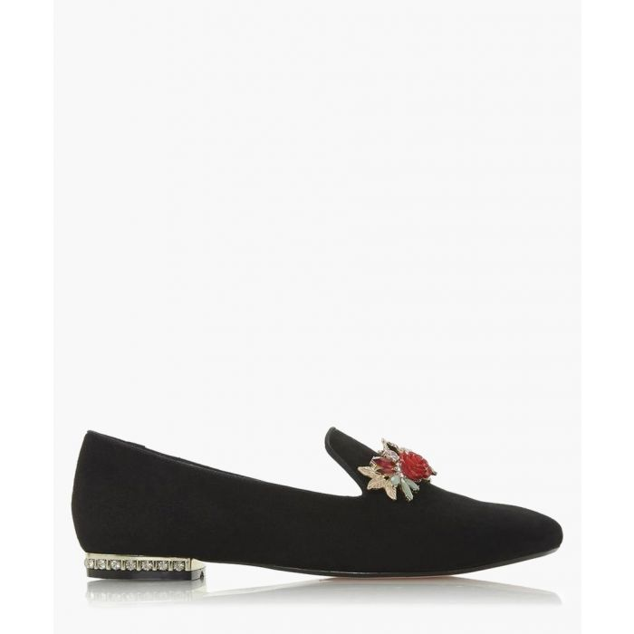 Image for Galleria black suede slipper cut loafers