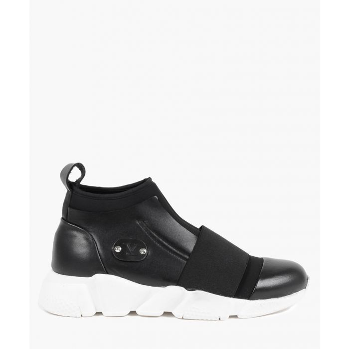 Image for Monochrome leather and tech trainers
