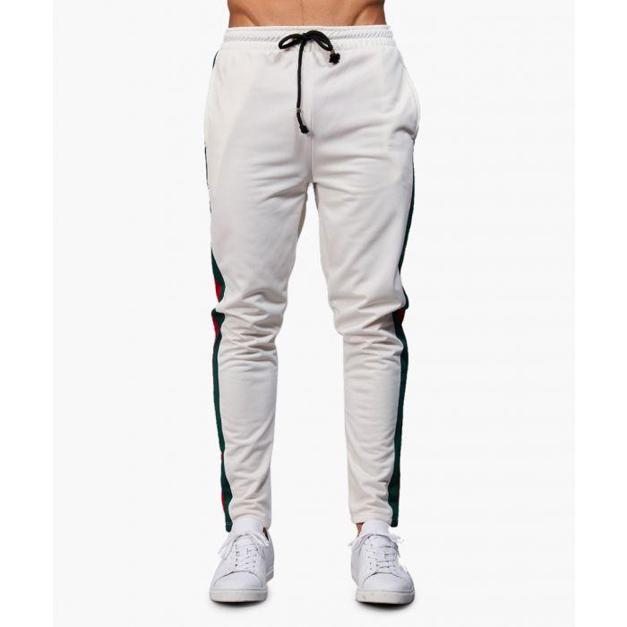 Image for Cuccio off-white stripe joggers