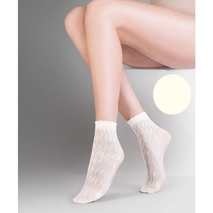 Image for Ava ecru ankle socks 20 denier