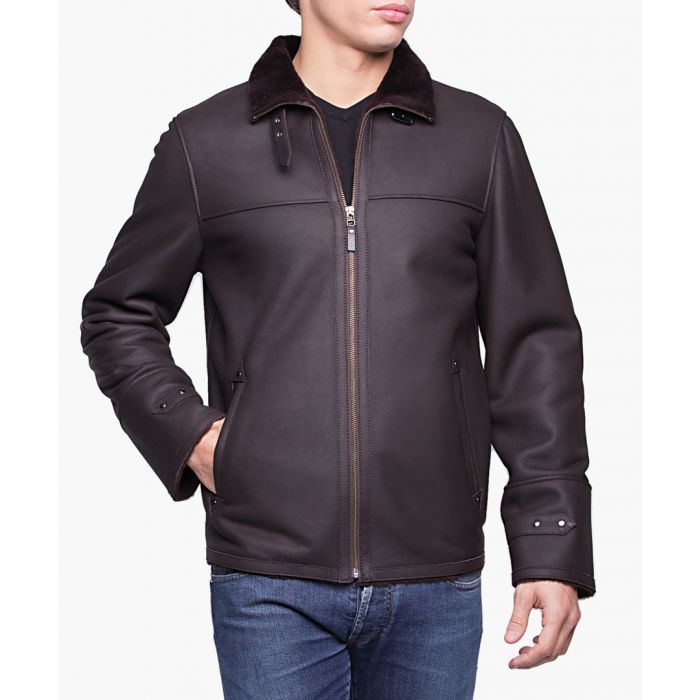 Image for Lebron brown leather jacket