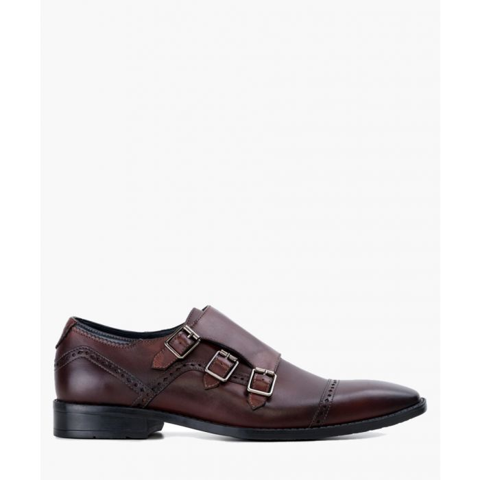 Image for Dark brow monk strap shoes