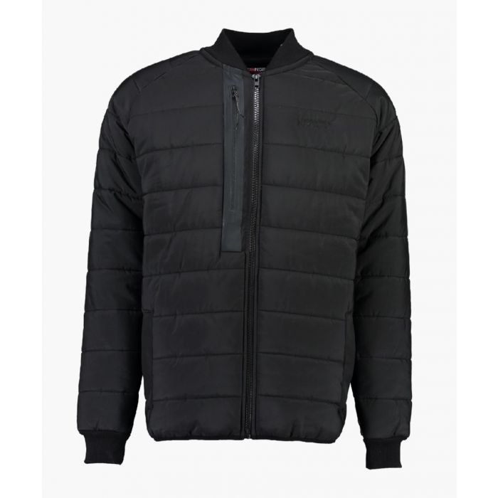 Image for Black quilted light weight jacket
