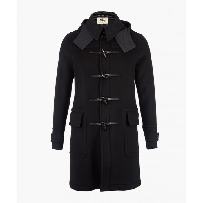 Image for Men's black toggle coat