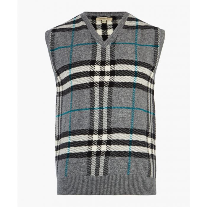 Image for Burberry Grey Check Gilet