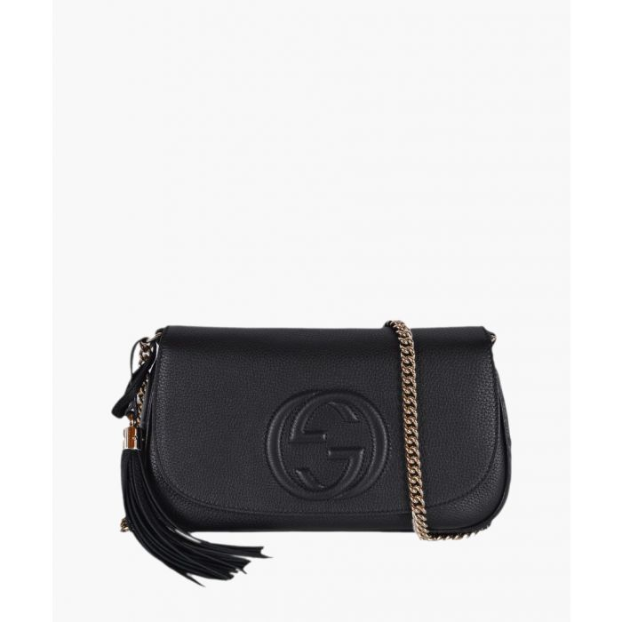 Image for Soho black embossed leather crossbody