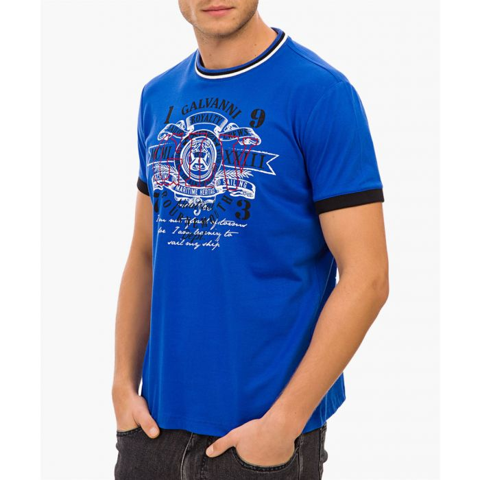 Image for Blue cotton T-shirt