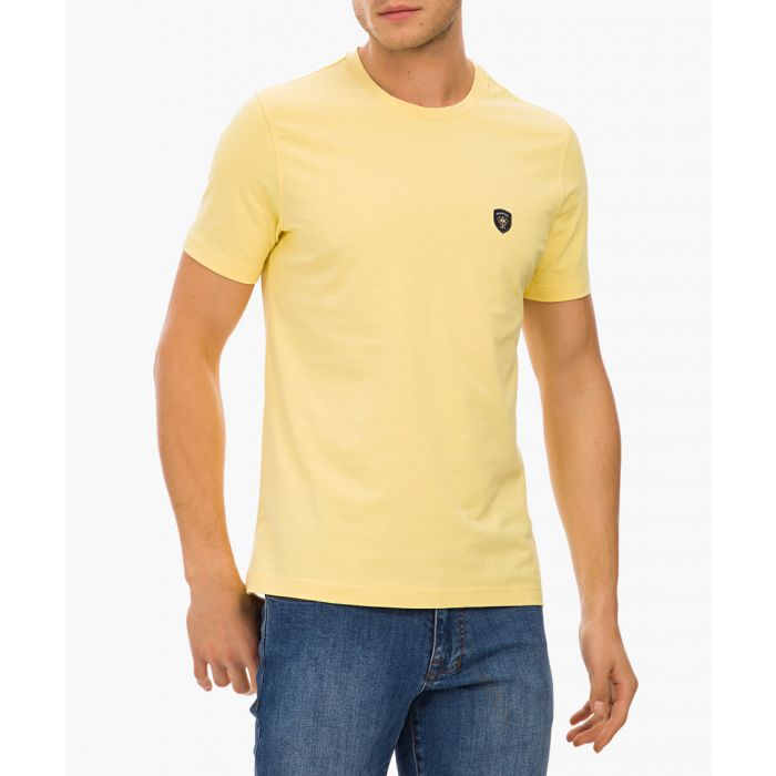Image for Yellow cotton blend T-shirt