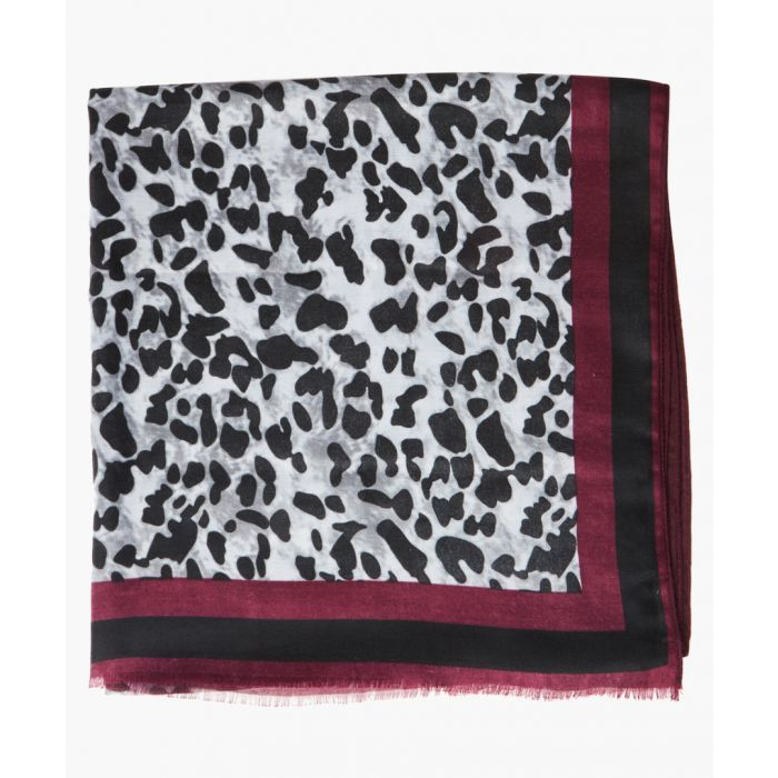 Image for Lucinder berry and black satin printed scarf