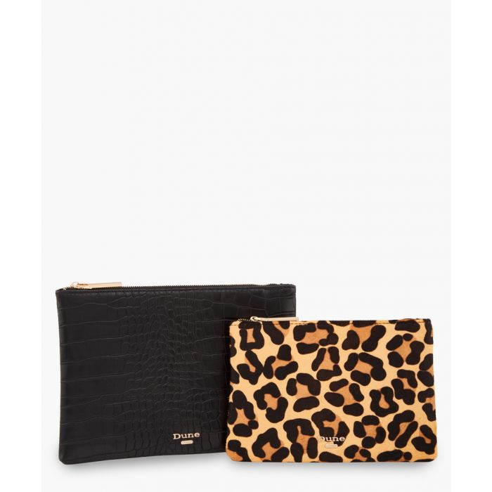 Image for 2pc Sierra leopard printed and moc-croc purse set