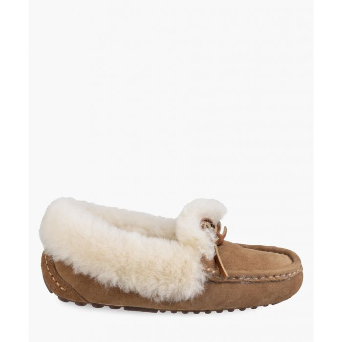 Image for Womens tan slippers