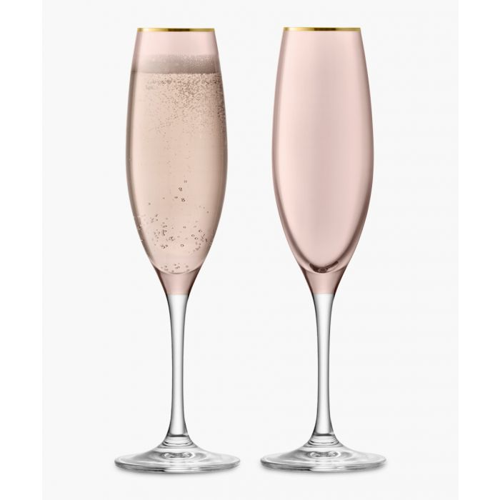 Image for 2pc Cinnamon sorbet champagne flute set