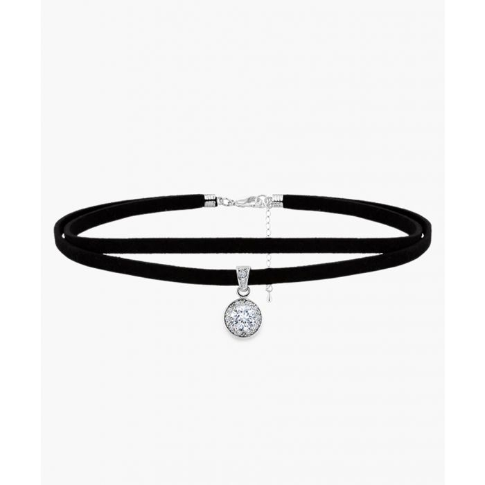 Image for Crystal 14k white gold-plated choker
