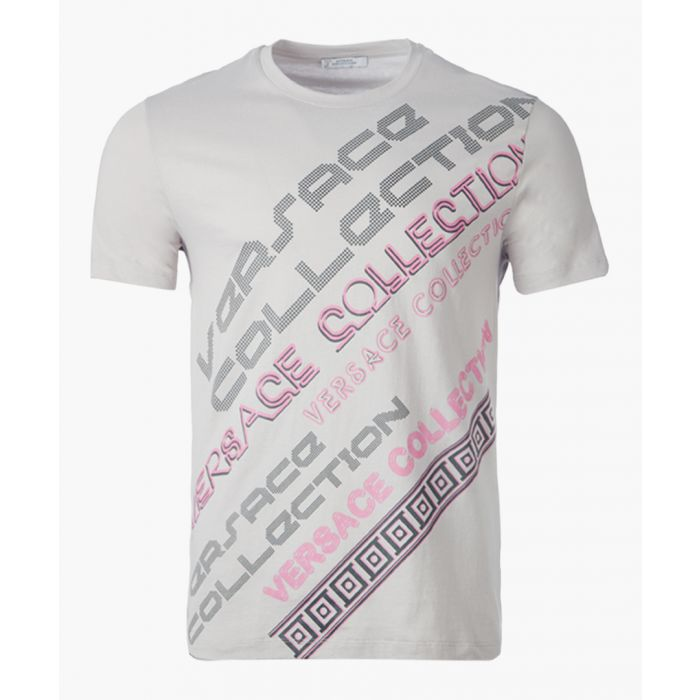 Image for Grey and pink logo T-shirt