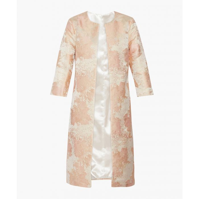 Image for Peach krista jacquard coat