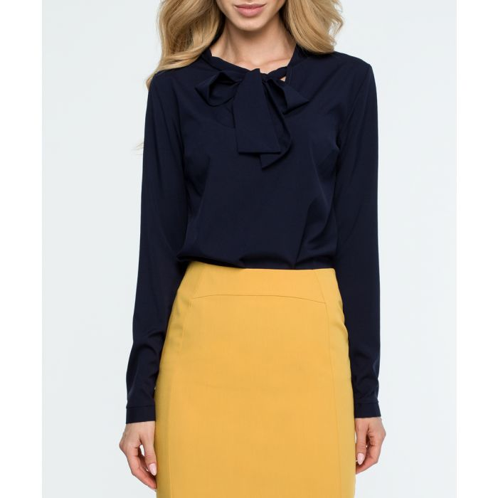 Image for Midnight ruffle blouse