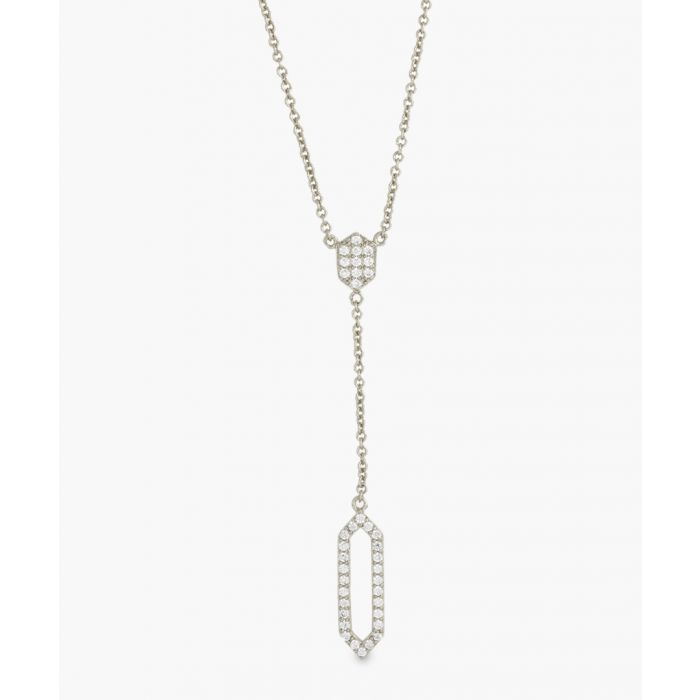 Image for Sole Du Soleil Lily white gold-plated cubic necklace Necklaces white, gold-tone