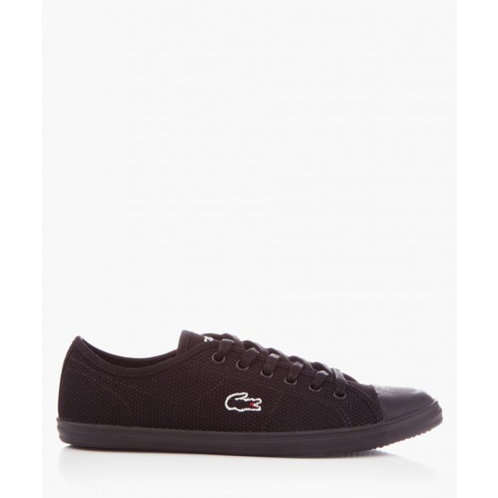 Image for Ziane black textile trainers