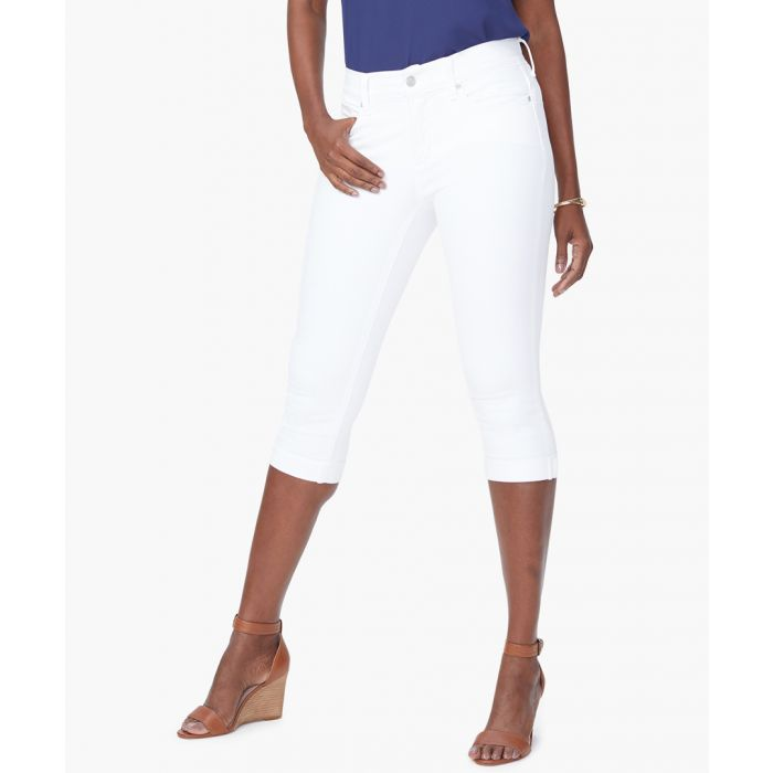 Image for Marilyn optic white straight crop jeans