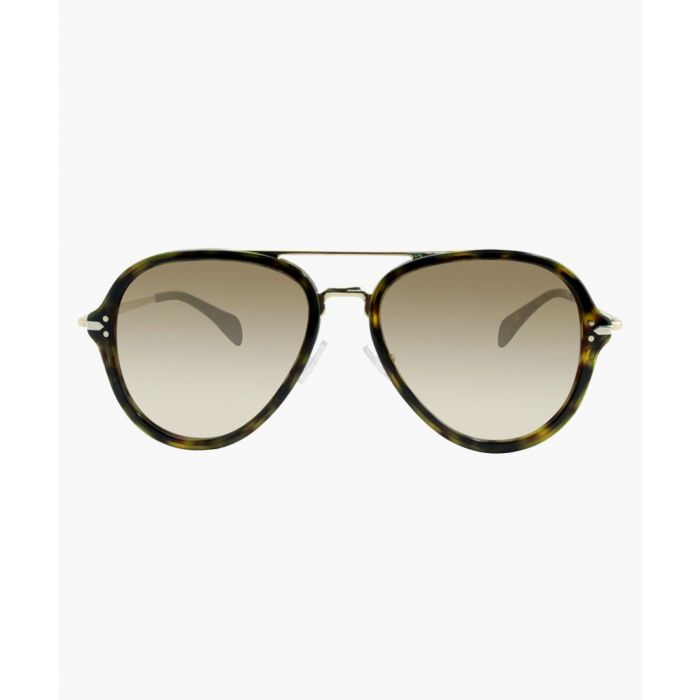Image for Celine SUNGLASSES Dark Havana Gold / Brown Shaded