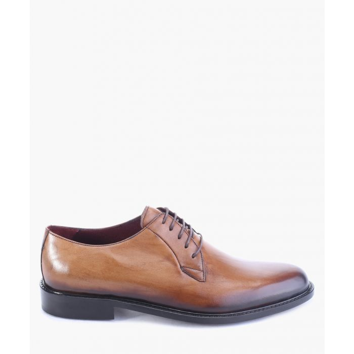 Image for Tan leather derby shoes