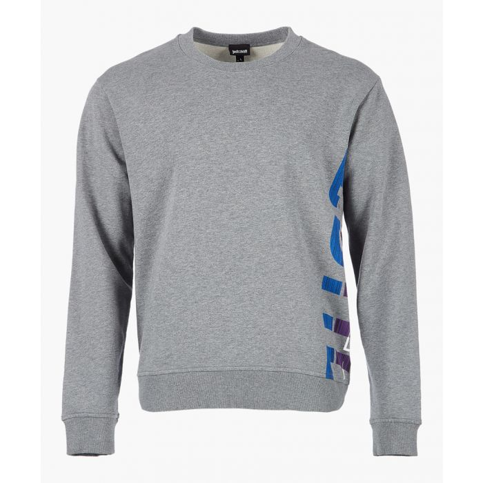 Image for Grey cotton logo print sweatshirt