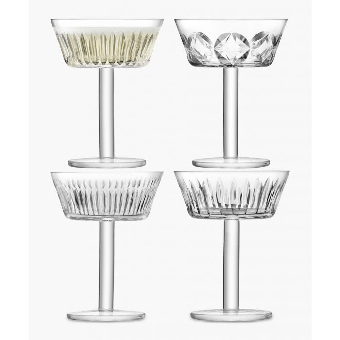 Image for 4pc Tatra champagne glass  set