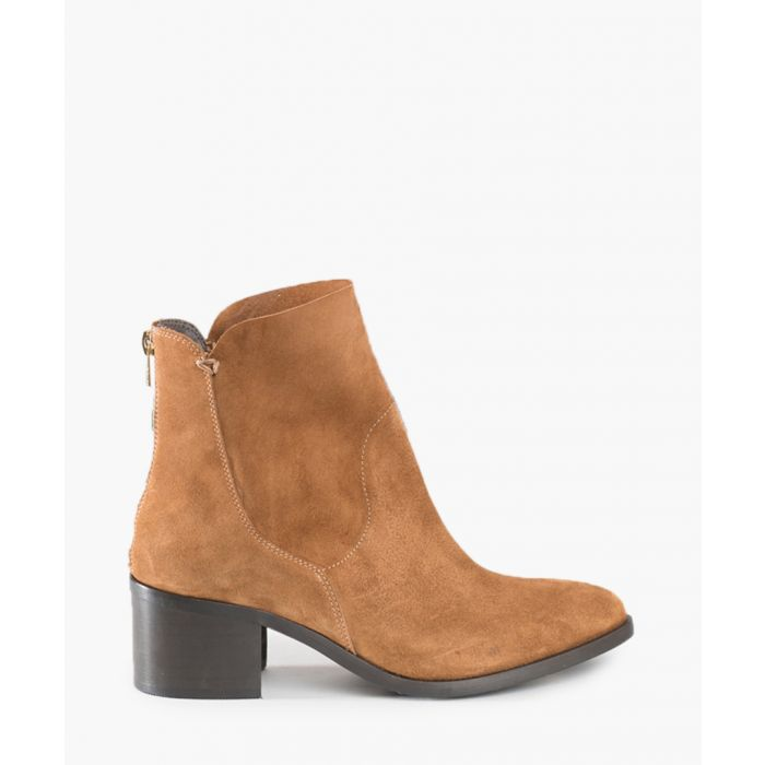 Image for Shirty brown suede & leather ankle boots