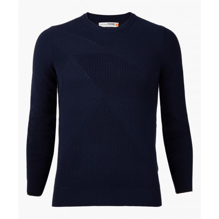 Image for Navy knitted jumper