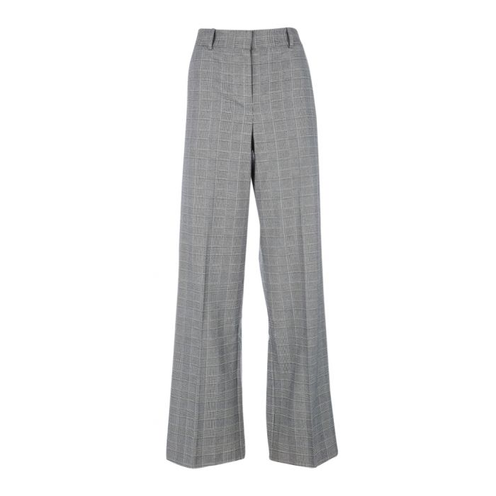 Image for Hyperion grey check flared trousers