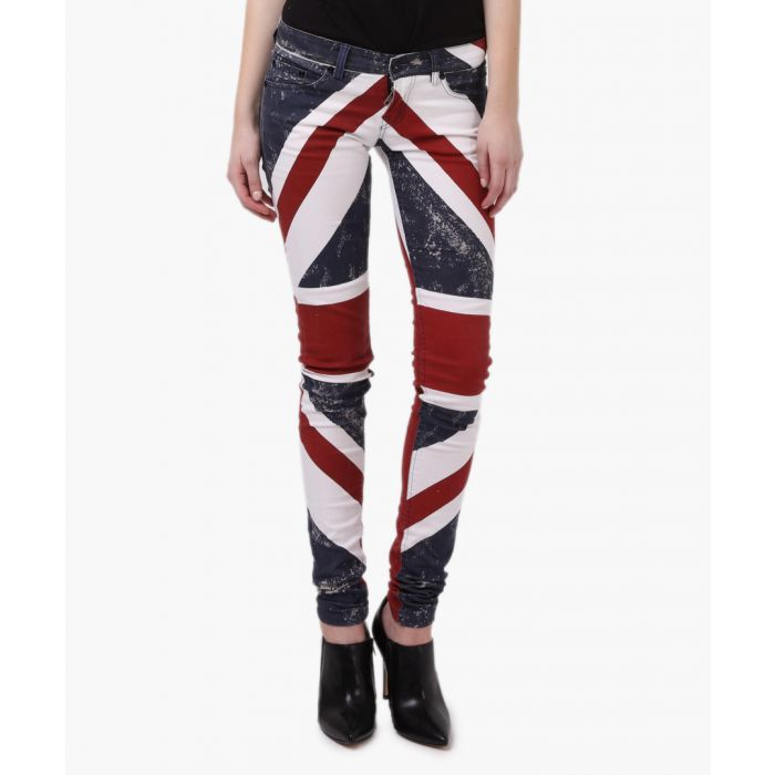 Image for Union jack navy and red skinny jeans